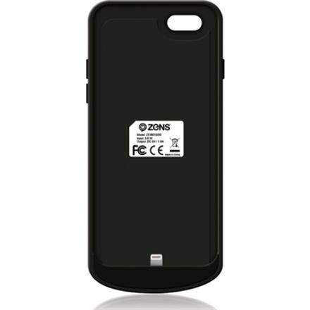 ZENS Draadloze batterij oplade rvoor iPhone 6/6S - zwart - 1850 mAh