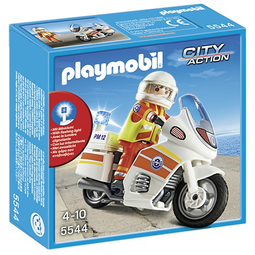 5544 Playmobil Ambulancier op motor