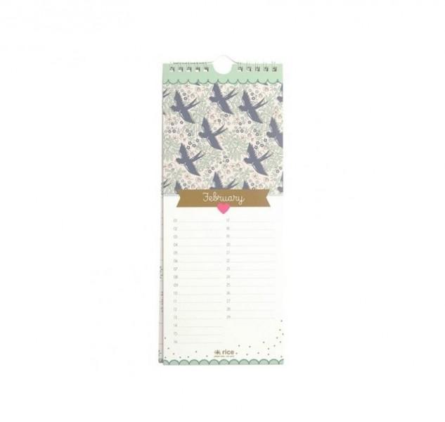 Birthday Calendar Rice