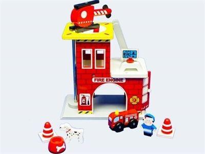 Brandweerkazerne Speelset Hout