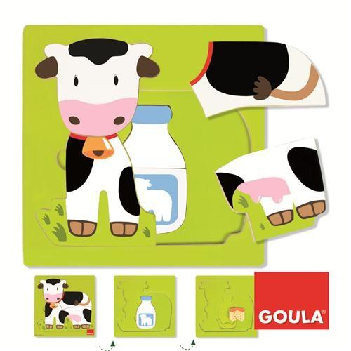 Goula Inlegpuzzel Koe 7 delen