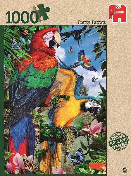 Jumbo Puzzel Prachtige Papegaaien (1000)