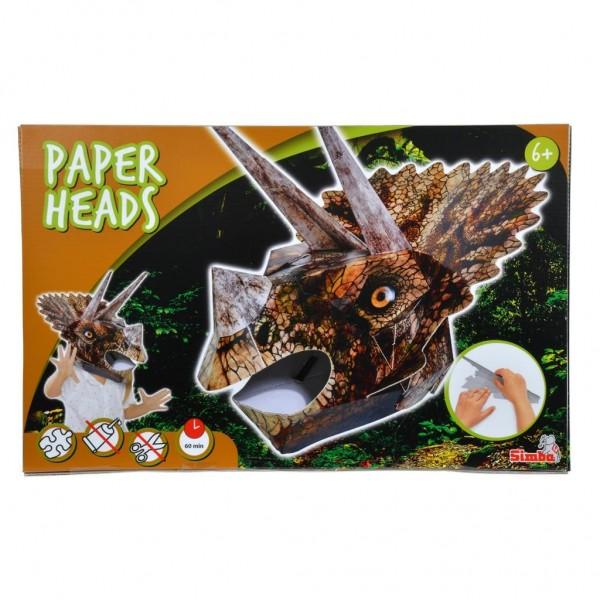 Papier Kop Triceratops 48 Cm
