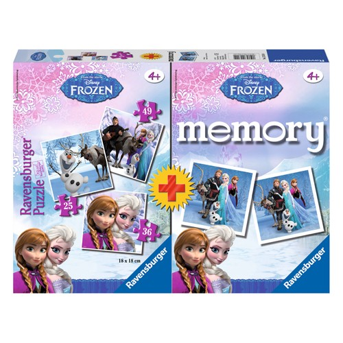 Ravensburger spel Memory + puzzel Frozen