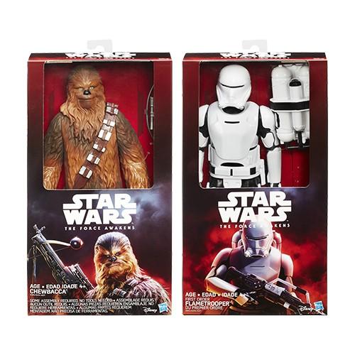 Star Wars Episode VII 30cm DLX Figuur Chewbacca of Flametrooper