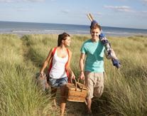 Picknick aan de Zuid-Hollandse kust