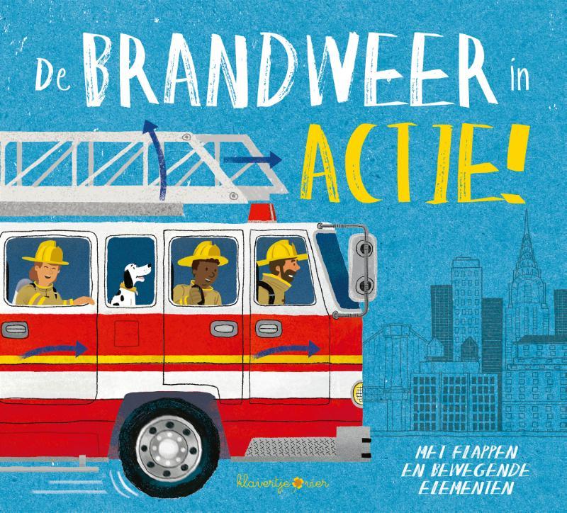 Peuterboek met bewegende elementen De brandweer in actie!