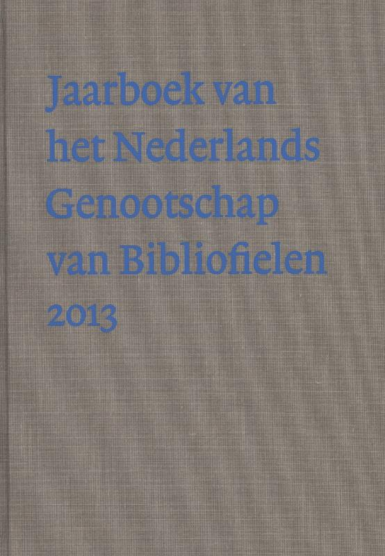 Jaarboek van het Nederlandse Genootschap v Bibliofielen